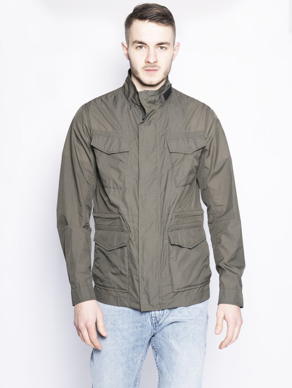 WOOLRICH-Field Jacket in Nylon Verde-TRYME Shop