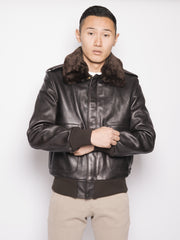 Bomber in pelle 184SM Marrone