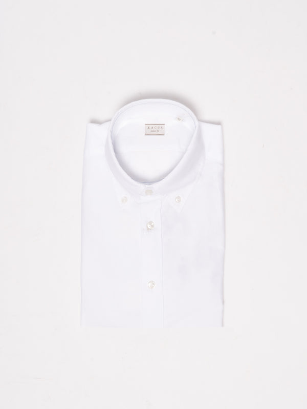 XACUS-Camicia button down - 768ML 51117 Bianco-TRYME Shop