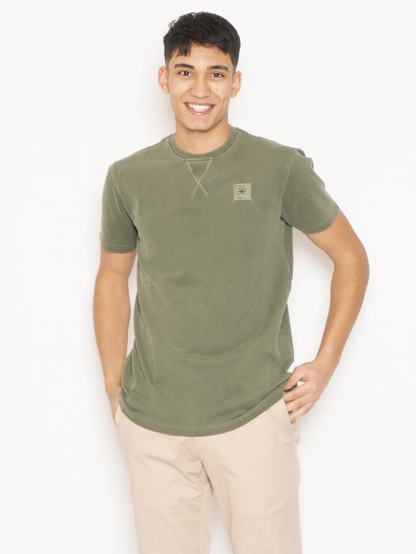 MANUEL RITZ-T-shirt in Cotone Verde-TRYME Shop
