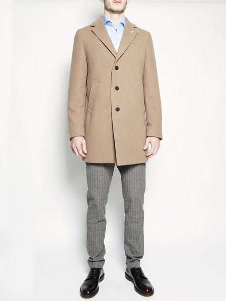 Cappotto tre bottoni Cammello MANUEL RITZ TRYMEShop