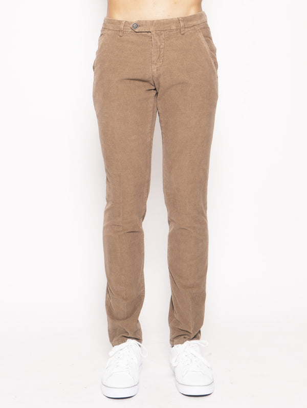 ROY ROGERS-Pantalone in Velluto a Costine Marrone-TRYME Shop