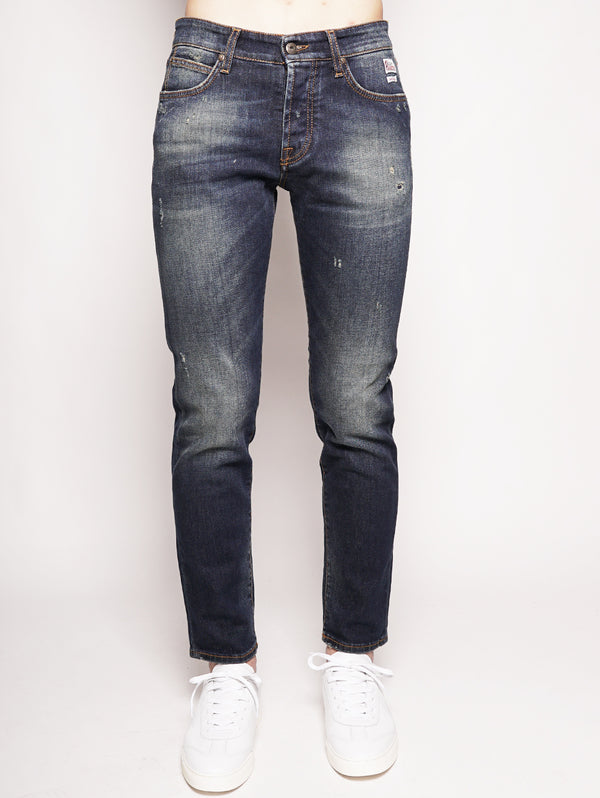 ROY ROGERS-Jeans in Denim Elasticizzato-TRYME Shop