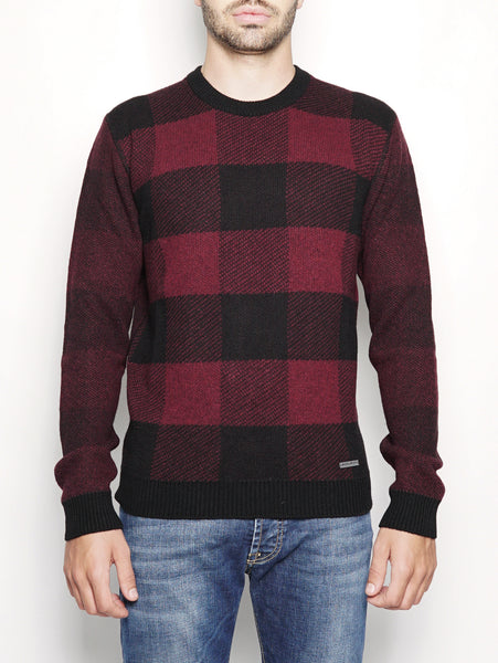 BUFFALO CREW NECK Rosso WOOLRICH TRYMEShop