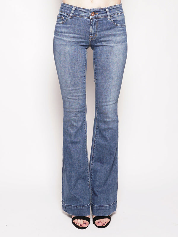 J BRAND-LOVE STORY LOW - RISE FLAIRE Denim-TRYME Shop