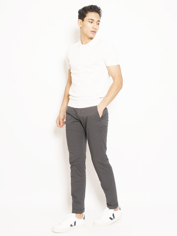 Chino in Gray Cotton