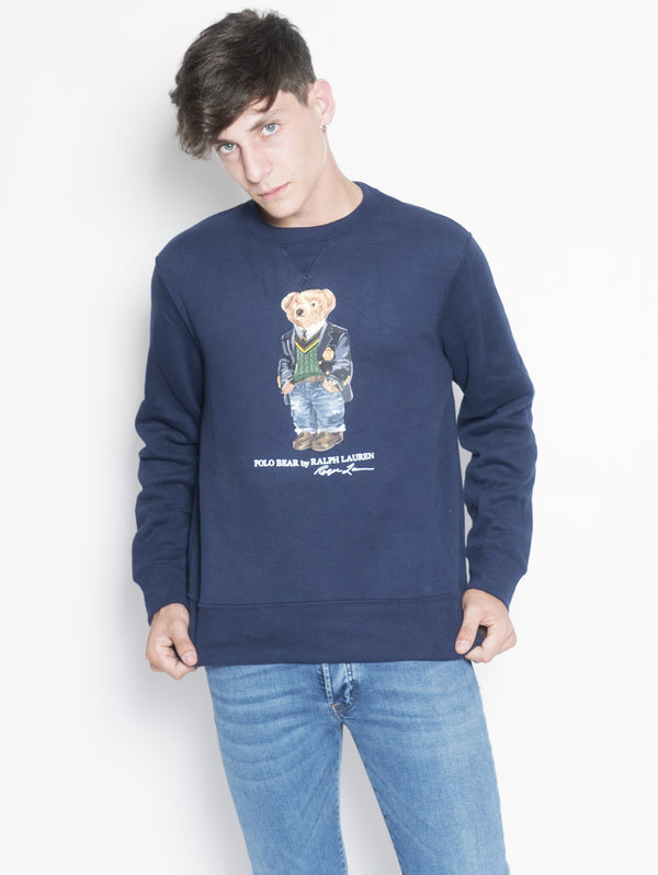 RALPH LAUREN-Felpa Polo Bear Blu-TRYME Shop