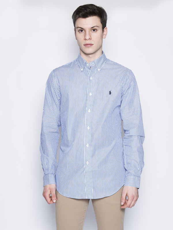 Camicia a righe Slim-Fit Bianco / Blu-Camicie-RALPH LAUREN-TRYME Shop