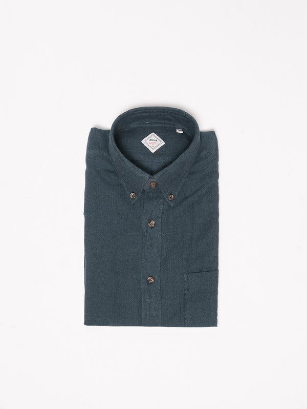 XACUS-Camicia in flanella button down Verde-TRYME Shop