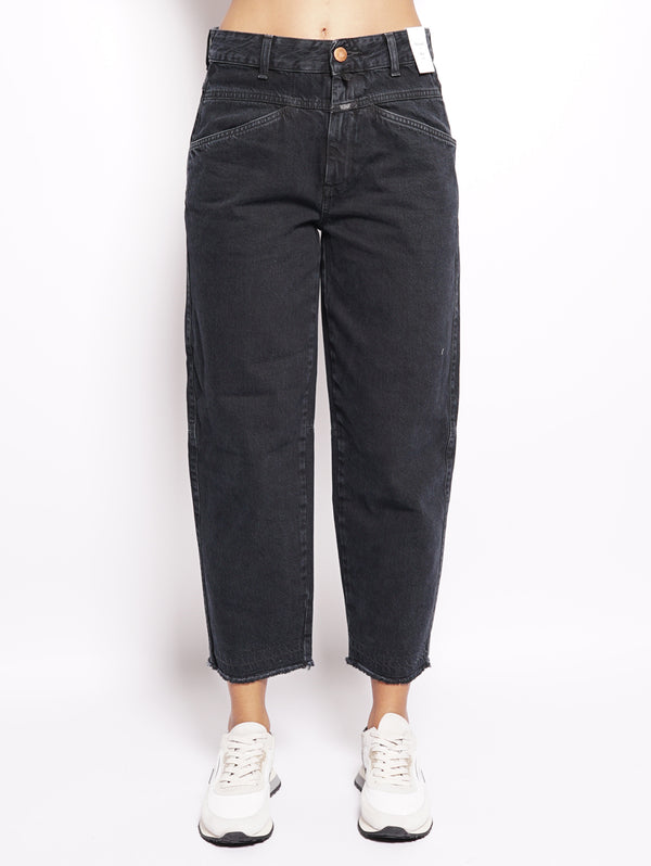 CLOSED-Jeans effetto used Nero-TRYME Shop