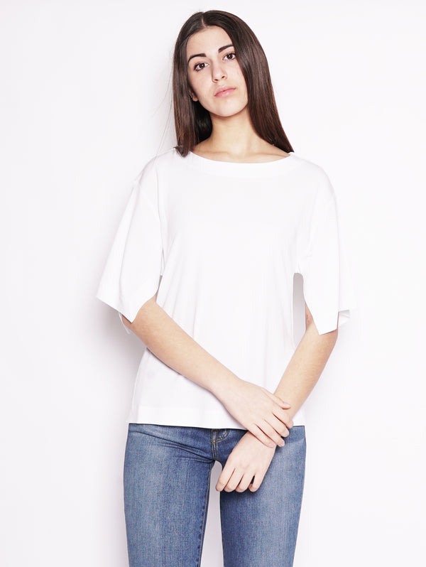 Alpha Studio-Blusa in viscosa Bianco-TRYME Shop