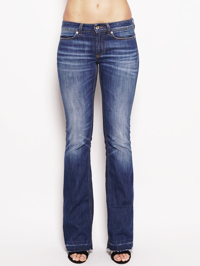 dondup-Jeans skinny bootcut in denim stretch Denim-TRYME Shop