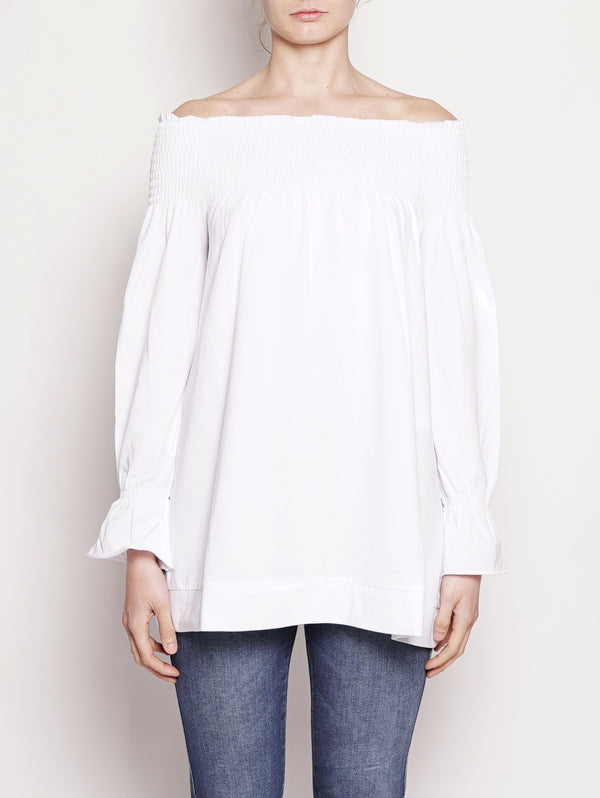 Top con ampia scollatura Bianco-Top-Alpha Studio-TRYME Shop