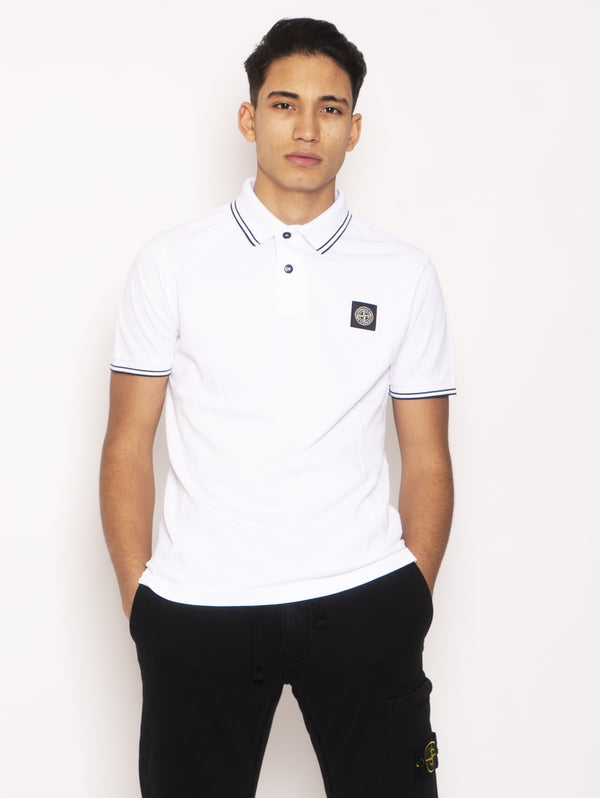 STONE ISLAND-Polo Slim Fit Bianco-TRYME Shop