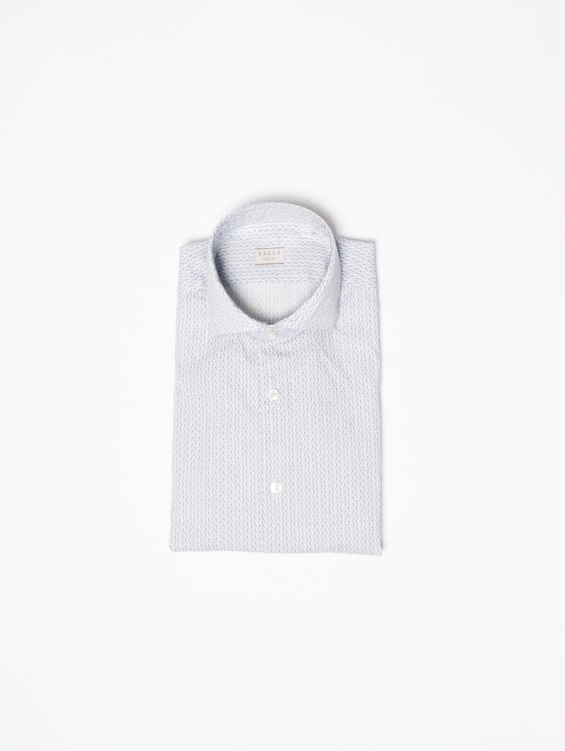 XACUS-Camicia in Fantasia Bianco-TRYME Shop