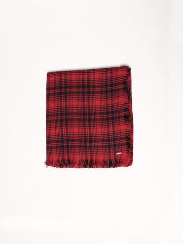 WOOLRICH W'S CHECK SCARF Rosso Trymeshop.it