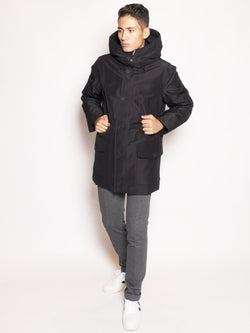 WOOLRICH-Parka in Gore-Tex Nero-TRYME Shop
