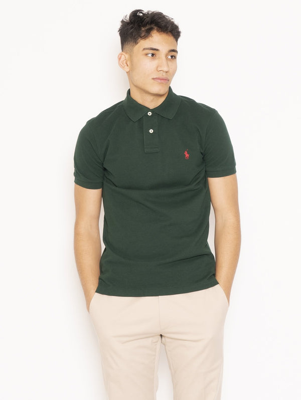 RALPH LAUREN-Polo in Piqué College Green-TRYME Shop