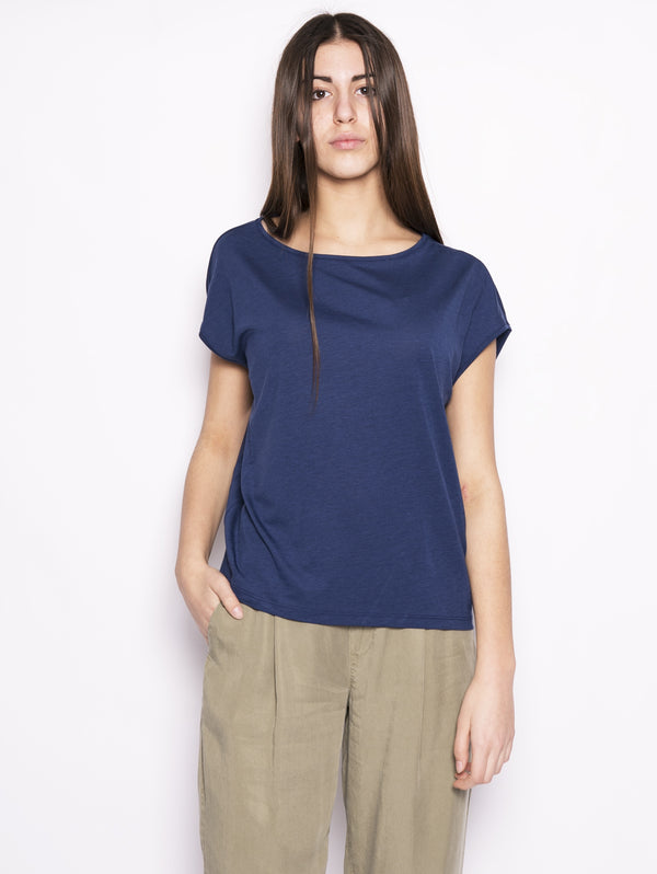 WOOLRICH-T-shirt in jersey Blu-TRYME Shop