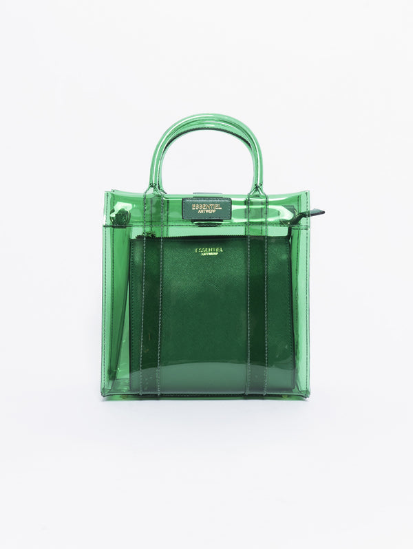 Borsa in PVC e Ecopelle - Smooch Verde-Borse-ESSENTIEL-TRYME Shop