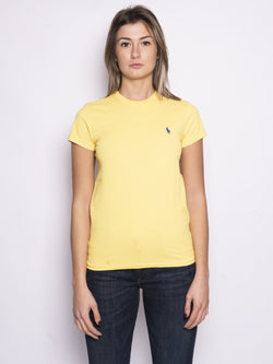 RALPH LAUREN-T-shirt basica in cotone Giallo-TRYME Shop