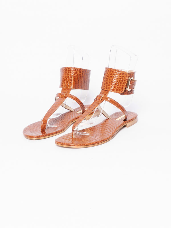 Sandals with Ankle Laces White