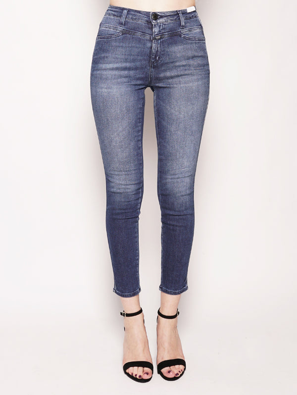 CLOSED-Jeans Skinny Pusher Blue Stretch-TRYME Shop