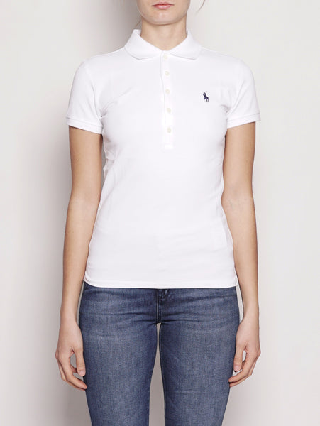 Polo stretch Slim-Fit Bianco