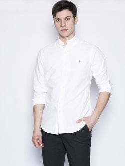 RALPH LAUREN-Camicia Oxford Bianco-TRYME Shop