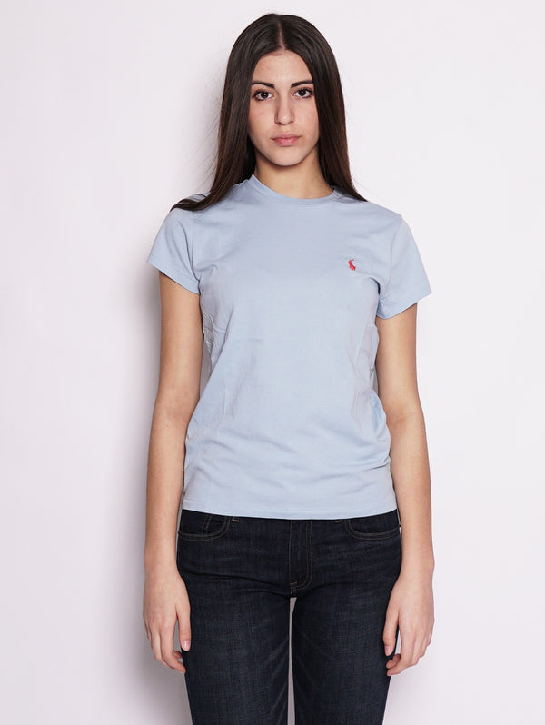 RALPH LAUREN-T-shirt basica in cotone Polvere-TRYME Shop