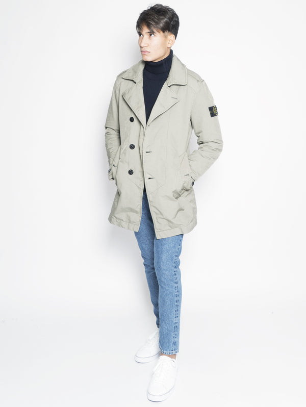 STONE ISLAND-Trench in David Tc 45249 Verde-TRYME Shop