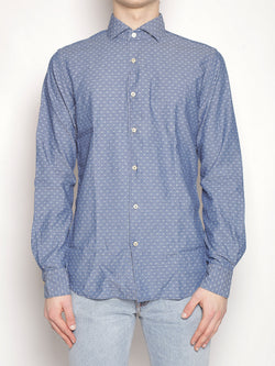 XACUS-Camicia in cotone - 722ML 81419 Indigo-TRYME Shop