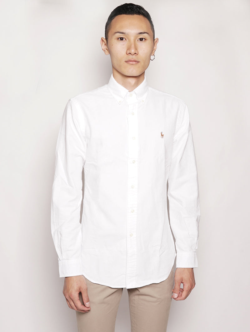 RALPH LAUREN-Camicia in Twill Bianco-TRYME Shop