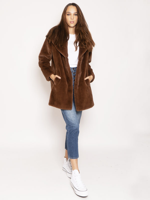 Ecofur coat - Brown