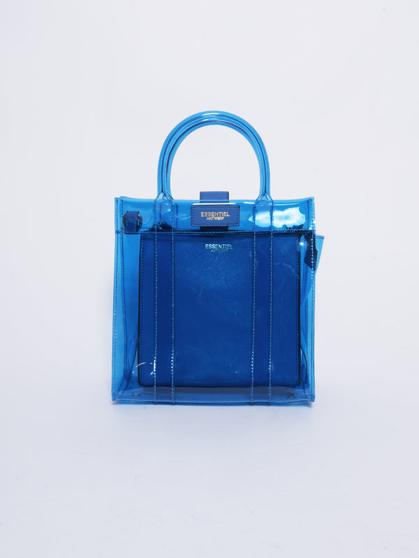 Borsa in PVC e Ecopelle - Smooch Blu-Borse-ESSENTIEL-TRYME Shop