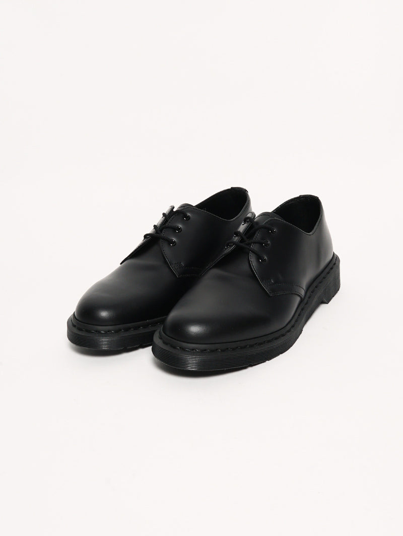 1461 MONO Black Smooth Nero-Scarpe-Dr. Martens-TRYME Shop