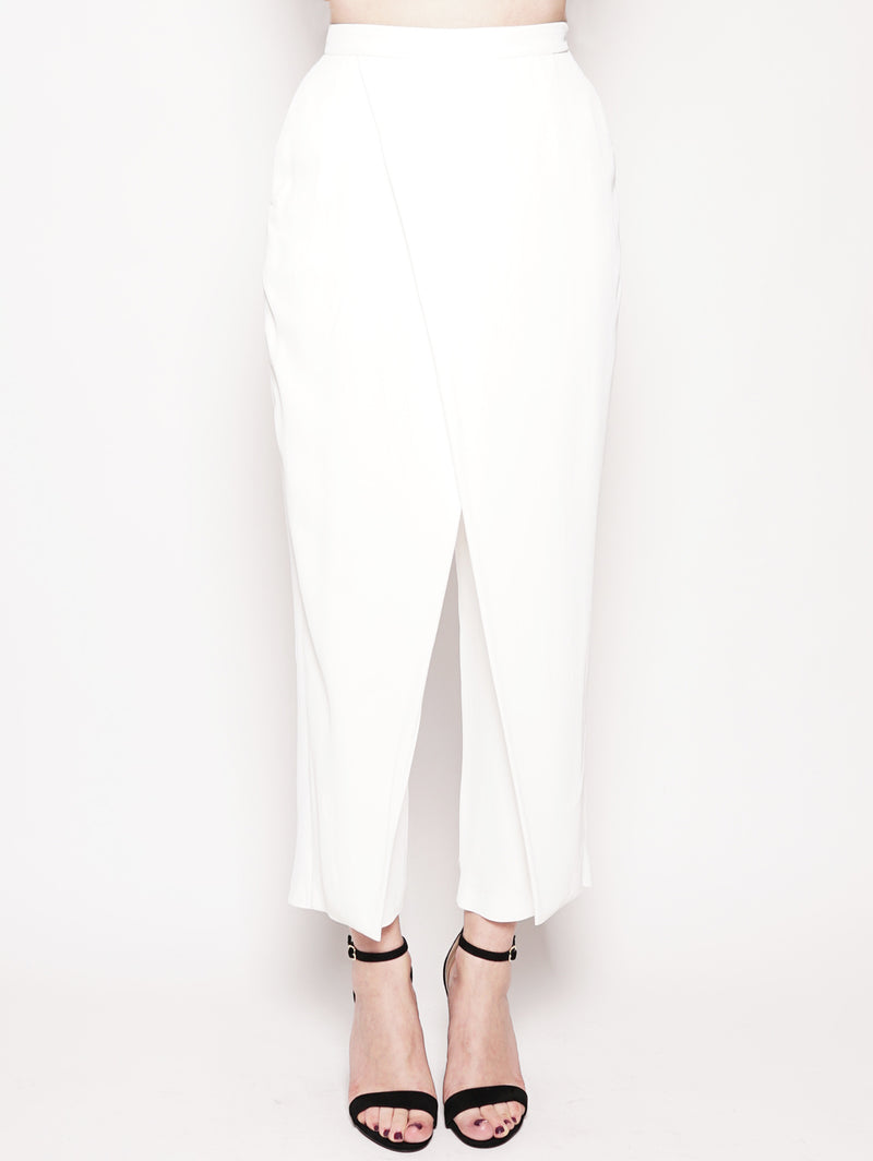 FEDERICA TOSI-Pantalone carrot fit Bianco-TRYME Shop