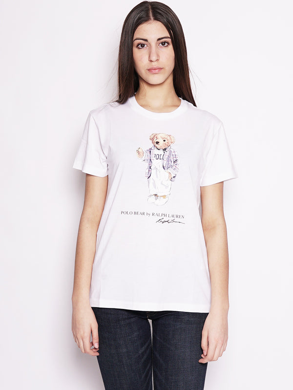 Maglietta Polo Bear Bianco-T-shirt-RALPH LAUREN-TRYME Shop