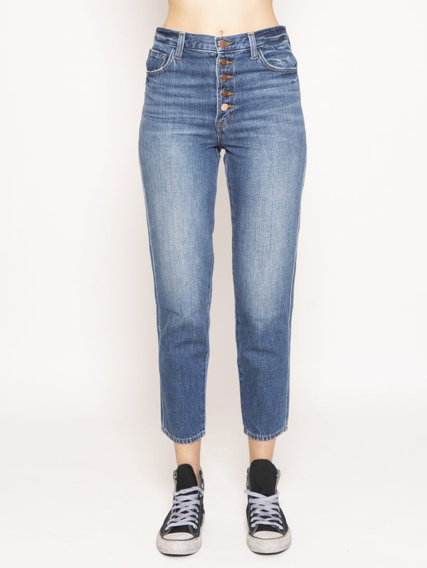 J BRAND-Jeans Heather High Rise Slim Straight Blu-TRYME Shop