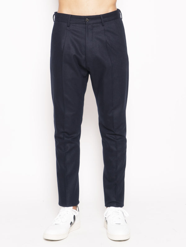 PT 01 FORWARD PANTALONI IN MISTO LANA Slim fit Blu