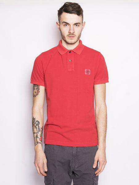 STONE ISLAND 22S67 POLO TINTO PIGMENTO Corallo Trymeshop.it