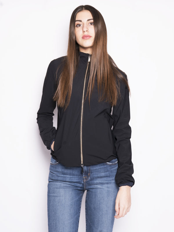 RRD-Felpa con Zip Summer Fleece Hood Lady Nero-TRYME Shop