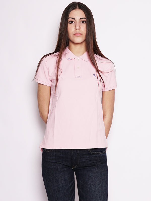 Polo in cotone Classic-Fit Rosa