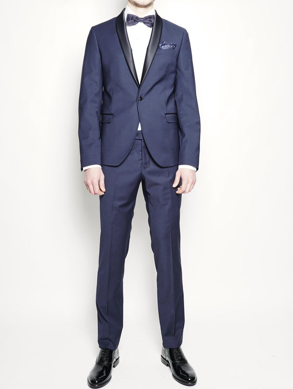 MANUEL RITZ-Abito Smoking slim fit Blu-TRYME Shop