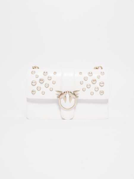 Love leather pearls  Bianco