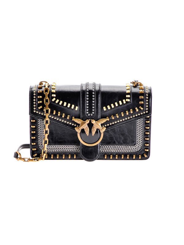 Love Bag Mix Studs In Pelle Nero
