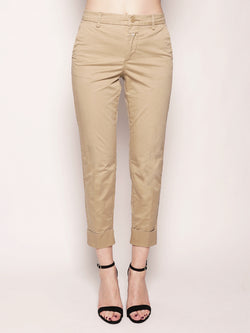 CLOSED-Chino in Cotone Elasticizzato Beige-TRYME Shop