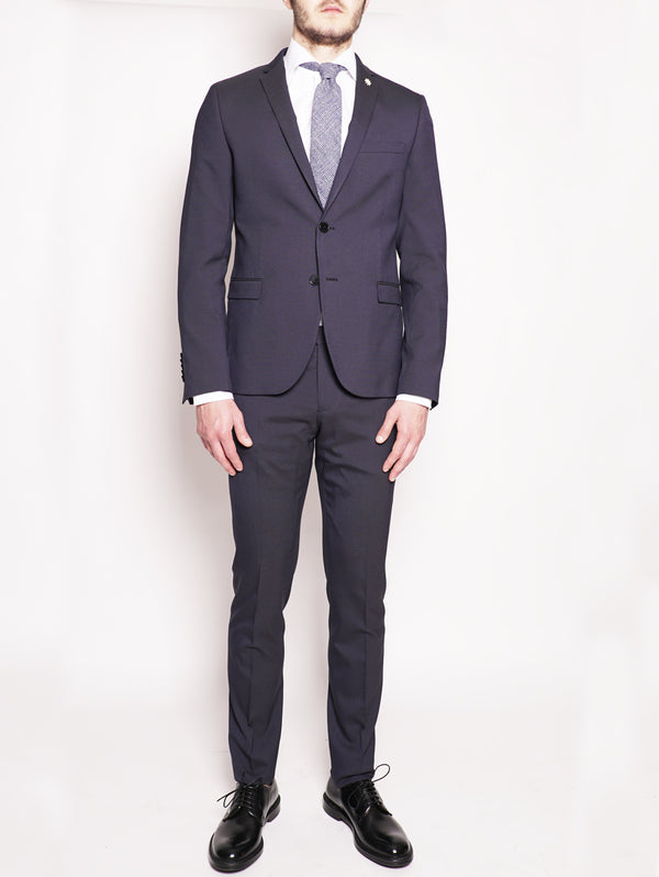MANUEL RITZ-Abito slim fit Blu-TRYME Shop