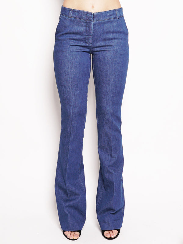 KILTIE-Chinos Jeans flare Denim-TRYME Shop