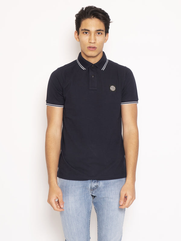 STONE ISLAND-Polo Slim Fit - Blu-TRYME Shop
